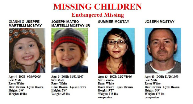 This undated file image provided by the San Diego Police Department shows members of the McStay family whose abandoned SUV was found near the Mexico border near San Diego in 2010. San Bernardino C ...