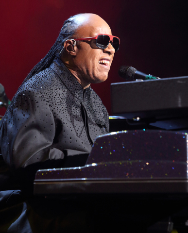 Stevie Wonder performs in concert during his Songs in the Key of Life Tour 2014 at the Wells Fargo Center on Sunday, Nov. 16, 2014, in Philadelphia. (Photo by Owen Sweeney/Invision/AP)