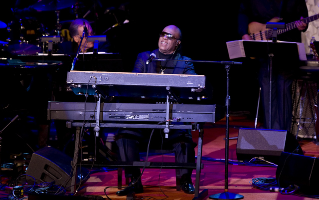 Stevie Wonder performs at the 2014 ASCAP Centennial Awards, benefiting the ASCAP Foundation and its music education, talent development and humanitarian activities, at the Waldorf-Astoria on Monda ...