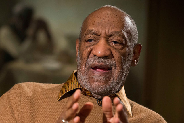"Bill Cosby talks about the upcoming exhibit, ""Conversations: African and African-American Artworks in Dialogue, "" at the Smithsonian's National Museum of African Art, in Washington, Nov. 6, 2014.  ..."