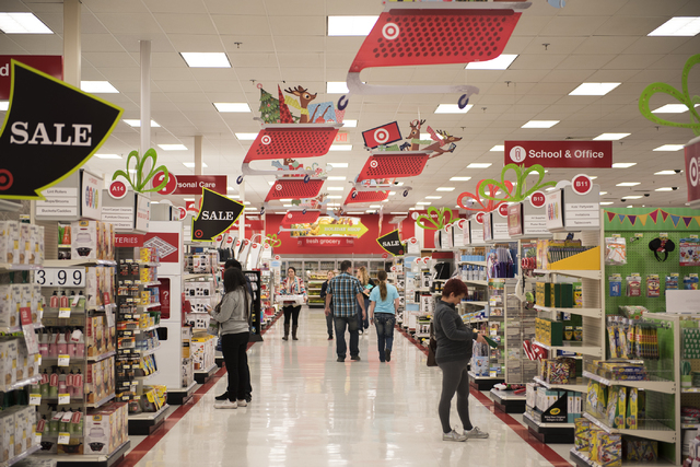 Shoppers (names not given) peruse Target on 605 N. Stephanie St. in Henderson, Nev., looking for Black Friday deals on Friday Nov. 28, 2014. (Martin S. Fuentes/Las Vegas Review-Journal)