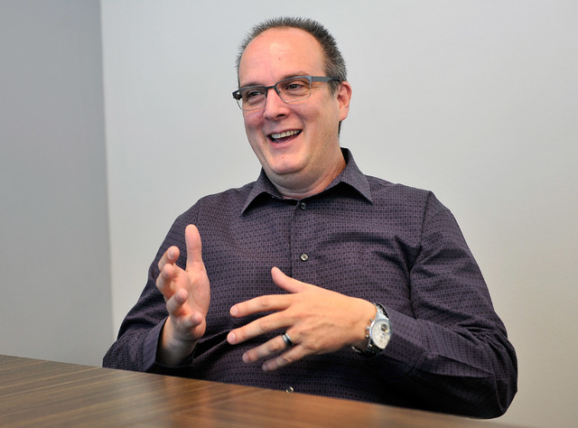 Coherent Design principle Kevin Potts appears at his Las Vegas office on Friday, Oct. 10, 2014. (David Becker/Las Vegas Review-Journal)