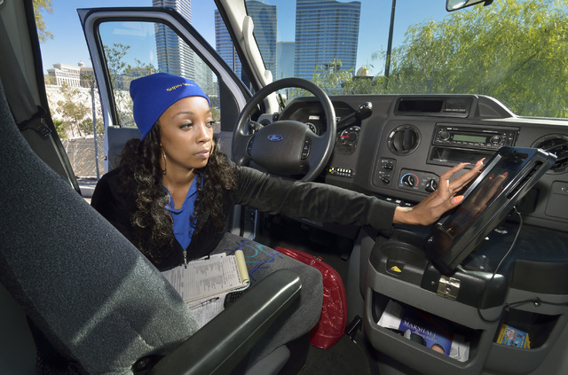SuperShuttle Driver Brittney Outley Does A Pre Trip Check Of Vehicle At The Shuttle