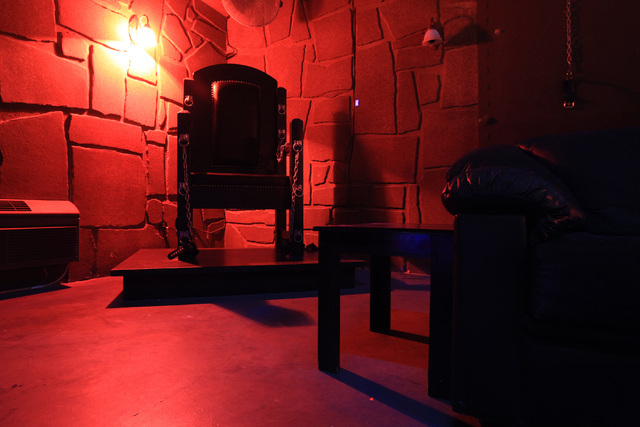 An S&M dungeon is seen at Sheri's Ranch brothel in Pahrump Wednesday, Nov. 26, 2014. (Sam Morris/Las Vegas Review-Journal)