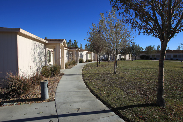 A line of bungalow suites is seen at Sheri's Ranch brothel in Pahrump Wednesday, Nov. 26, 2014. (Sam Morris/Las Vegas Review-Journal)