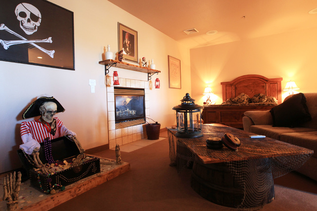 This is a pirate-themed suite in the hotel at Sheri's Ranch brothel in Pahrump where prostitutes are not allowed Wednesday, Nov. 26, 2014. (Sam Morris/Las Vegas Review-Journal)