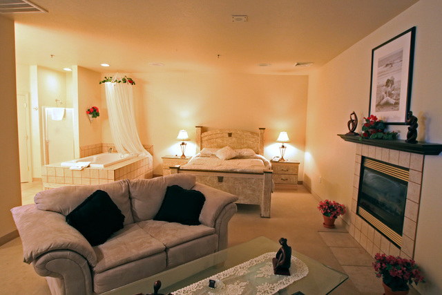 This is an romance-themed suite in the hotel at Sheri's Ranch brothel in Pahrump where prostitutes are not allowed Wednesday, Nov. 26, 2014. (Sam Morris/Las Vegas Review-Journal)