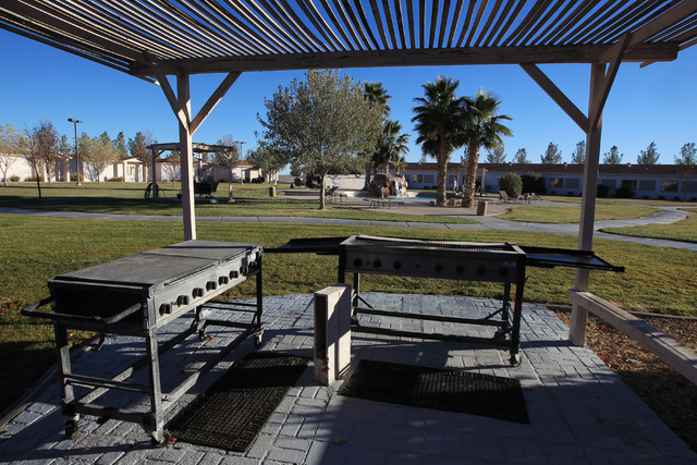 A barbecue area is available at Sheri's Ranch brothel in Pahrump Wednesday, Nov. 26, 2014. (Sam Morris/Las Vegas Review-Journal)