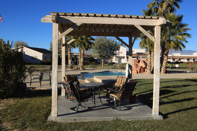 This is the pool area at Sheri's Ranch brothel in Pahrump Wednesday, Nov. 26, 2014. (Sam Morris/Las Vegas Review-Journal)