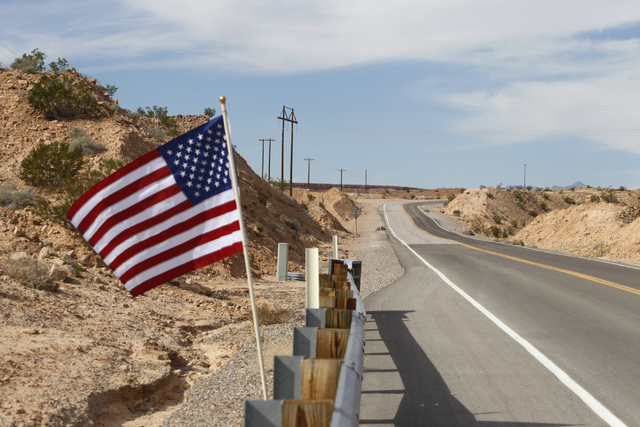 A road leading to the ranch of Cliven Bundy near Bunkerville, Nev., is seen on Wednesday, Oct. 29, 2014. (Erik Verduzco/Las Vegas Review-Journal)