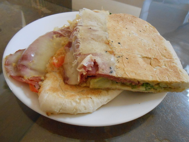 The salami panini at Camille by Manon is shown. (Jan Hogan/View)