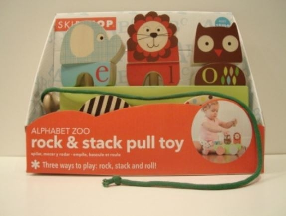 """""""Alphabet Zoo Rock & Stack Pull Toy"""" by Skip Hop. (Courtesy W.A.T.C.H.)"""