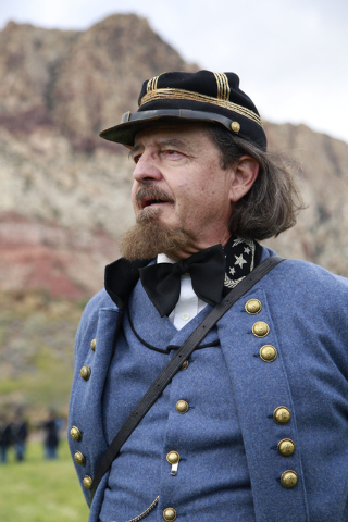 """General George Pickett (Ken Fry) inspects troops at the ninth annual """"Civil War Days in the Battle Born State"""" event, Spring Mountain Ranch State Park, Blue Diamond, Nevada on Saturday,  ..."""