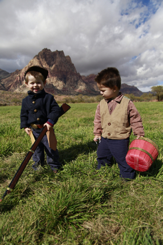 """at the ninth annual """"Civil War Days in the Battle Born State"""" event, Spring Mountain Ranch State Park, Blue Diamond, Nevada on Saturday, Nov. 1, 2014. (Donavon Lockett/Las Vegas Review-J ..."""