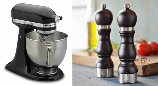 Courtesy Williams-Sonoma In small appliances, Williams-Sonoma stocks a lot more black than it used to, such as KitchenAid Artisan Stand Mixers and French salt and pepper mills.