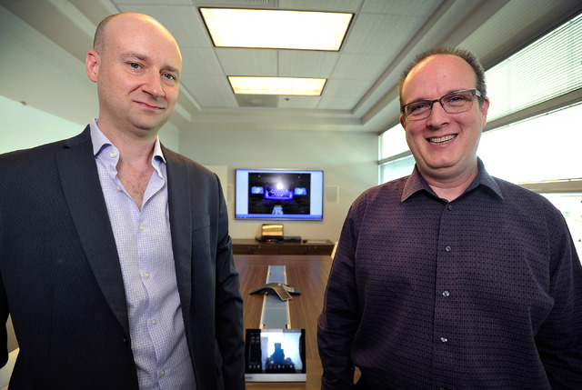 Coherent Design principles David Starck, left, and Kevin Potts appear in their Las Vegas office on Friday, Oct. 10, 2014. (David Becker/Las Vegas Review-Journal)