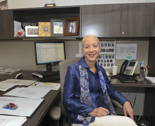 Shelly Gitomer, vice president of corporate philanthropy for MGM-Mirage Corporation, poses for a photo in her office in Las Vegas, Friday, Sept. 12, 2014. (Jerry Henkel/Las Vegas Review-Journal)