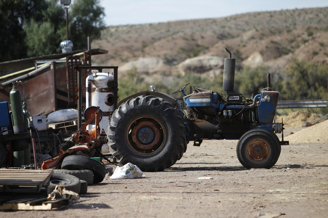 A tractor is seen at the ranch of Cliven Bundy in Bunkerville, Nev., Wednesday, Oct. 29, 2014. (Erik Verduzco/Las Vegas Review-Journal)