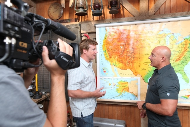 "Courtesy photo ""Ask This Old House"" host Kevin O'Connor, left, met with Weather Channel meteorologist Jim Cantore to discuss America's drought problem."