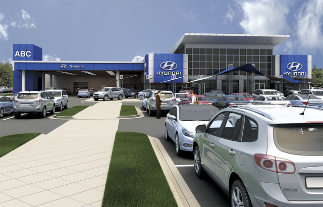 Courtesy photo ABC Hyundai has opened off Interstate 215 at South Rainbow.