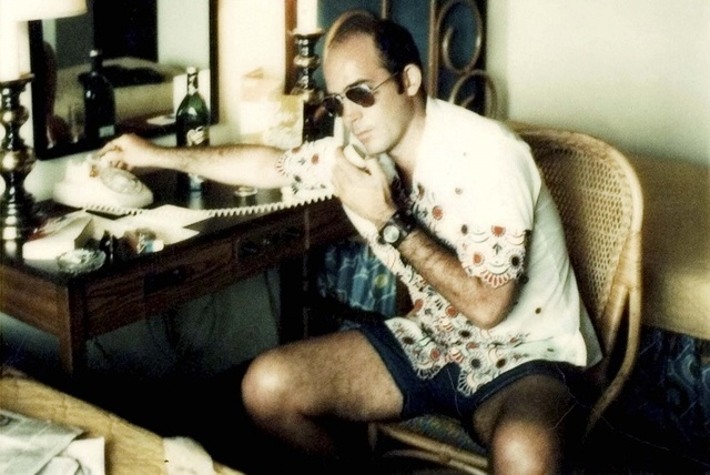 In this undated image provided by Magnolia Pictures, Hunter S. Thompson is shown. (AP Photo/Magnolia Pictures)