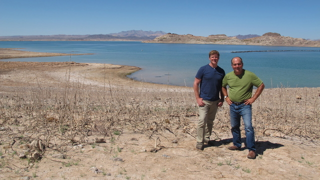 "Courtesy photo ""Ask This Old House"" host Kevin O'Connor, left, and plumbing and heating expert Richard Trethewey were in Southern Nevada to film an episode of the historic drought. The pair visite ..."