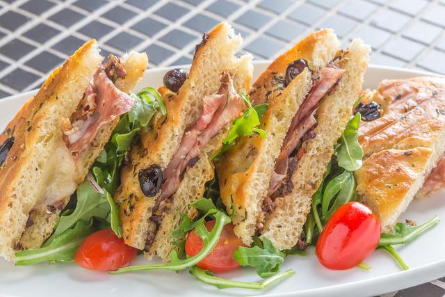 Muffuletta panini, Lavo Italian Restaurant, Palazzo (Courtesy)