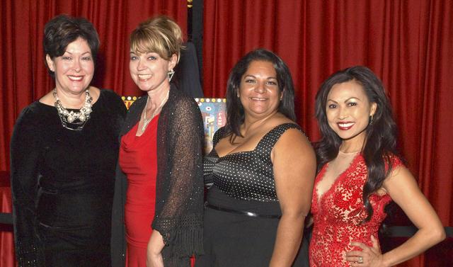 Geri Smith, from left, Julie Schreiber, Rose Garcia and Ginny Ghafouria at the Las Vegas Academy gala (Marian Umhoefer/Las Vegas Review-Journal)