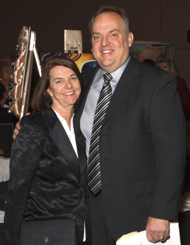 Virginia and Scott Walker at the Las Vegas Academy fundraiser (Marian Umhoefer/Las Vegas Review-Journal)