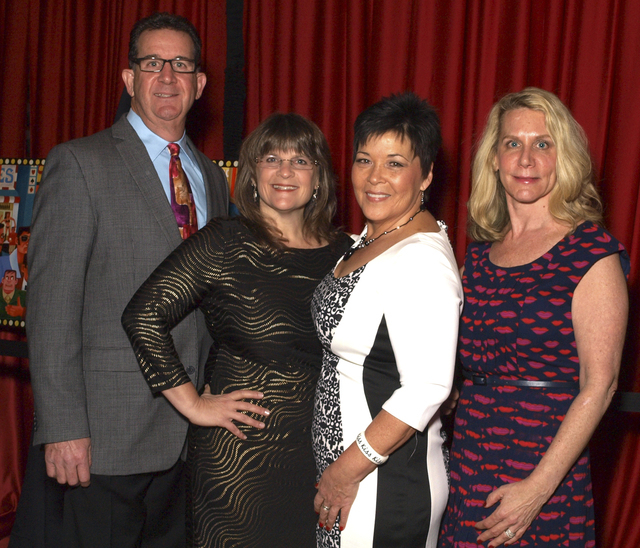 Steve Ganett, from left, Sue Mirman, Darlene Williams and Sue Langsner at the Las Vegas Academy gala (Marian Umhoefer/Las Vegas Review-Journal)