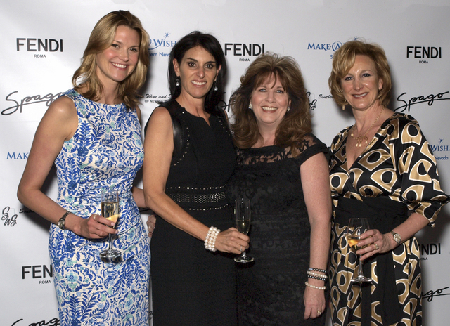 Diane Boyle, from left, Victoria Otter, Amy Close and Corie Sawdon attend the Make-A-Wish luncheon (Marian Umhoefer/Las Vegas Review-Journal)