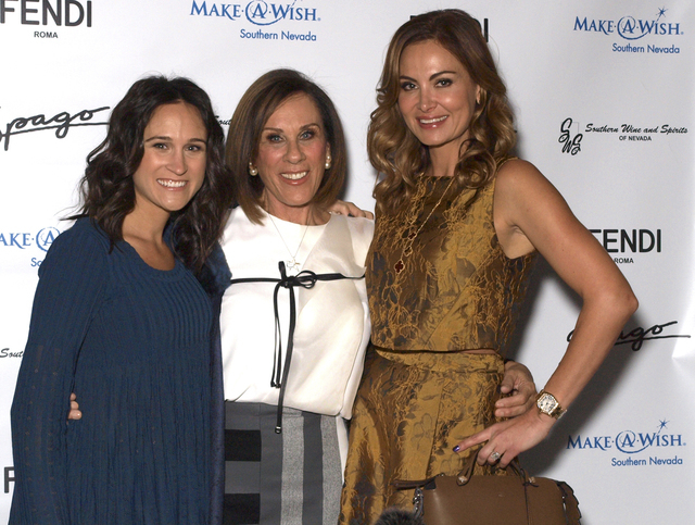 Melissa Akkaway, from left, Linda Richardson and Noey Richardson (Marian Umhoefer/Las Vegas Review-Journal)