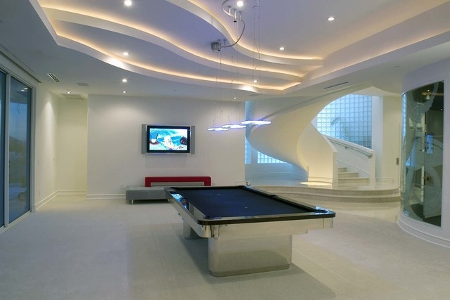 Courtesy photo A large game room features a pool table.