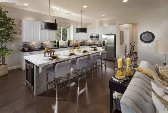 Courtesy photo The Hudson model at Ryland Homes' Zephyr Ridge neighborhood in Henderson showcases a kitchen with a center island.