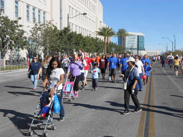 Courtesy photo Several thousand participated in the 23rd annual Heart Stroke Walk/Run that included a route through Symphony Park. The event raised more than $390,000 for the American Heart Founda ...
