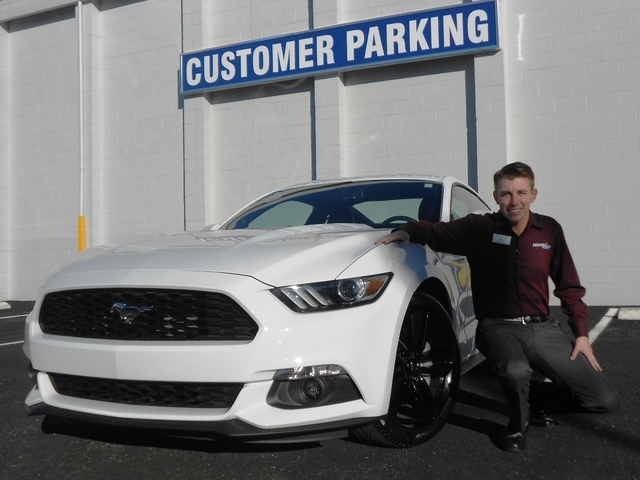 Courtesy photo Friendly Ford Sales Manager Taylor Warf is also a customer with the dealership after purchasing a 2015 Ford Mustang.