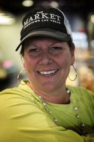 Ellyn Chantos, the general manager of The Market,  at 611 East Fremont on Wednesday, Oct. 29,2014. The Downtown Project recently opened the grocery store and cafe. (Jeff Scheid/Las Vegas Review-Jo ...