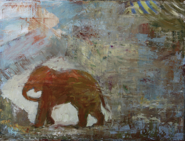 """Circus Elephant"" by Susanne Forestieri is set to be part of the exhibit ""Please Feed the Animals"" at R Space Studio in The Arts Factory, 107 E. Charleston Ave. The work is set to be on display du ..."