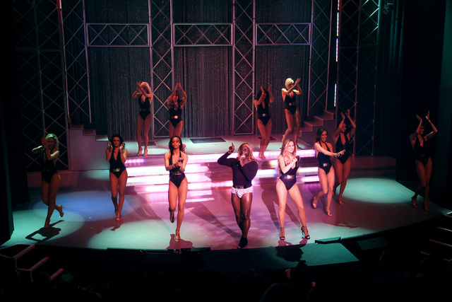 """The women of """"Fantasy"""" and comedian Sean E. Cooper perform a 15th anniversary show Tuesday, Nov. 11, 2014 at the Luxor. (Sam Morris/Las Vegas Review-Journal)"""