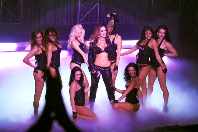 """The women of """"Fantasy"""" perform a 15th anniversary show Tuesday, Nov. 11, 2014 at the Luxor. (Sam Morris/Las Vegas Review-Journal)"""
