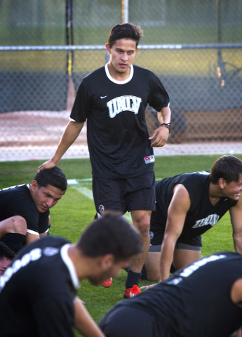 UNLV men's soccer leading scorer Salvador Bernal during practice at  Peter Johann Soccer Field on Monday, Nov. 10, 2014. The 2014 WAC conference champions depart this week for the conference tourn ...