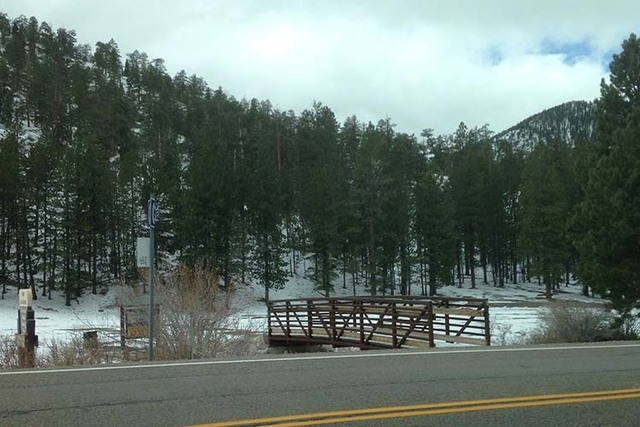Snow in the upper meadow at Lee Canyon (Camie Noll/Submitted via At The Scene)