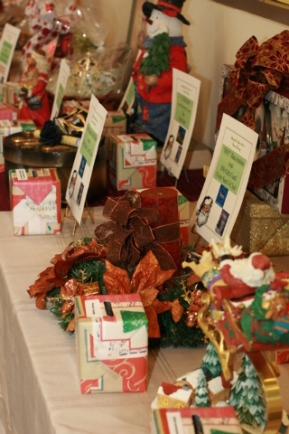 The Friends of Henderson Libraries have created more than 200 baskets to auction off at the annual Library Tree Lane Gala on Dec. 6 at the Paseo Verde Library, 280 S. Green Valley Parkway. Last ye ...