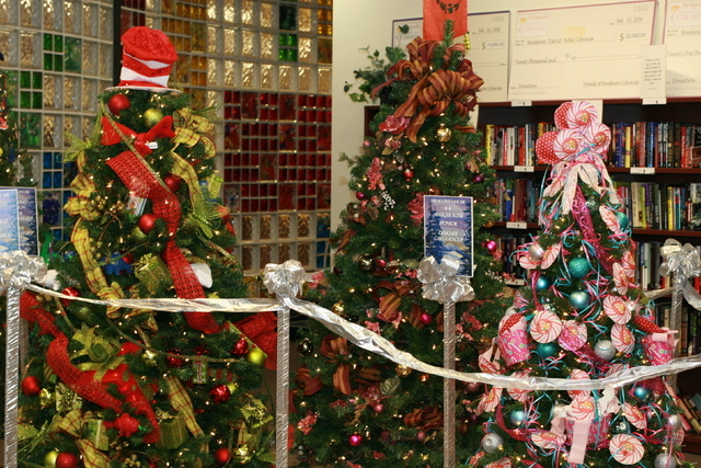 The Library Tree Lane Gala is expected to feature a display of decorative trees and wreaths along with more than 200 gift baskets to be auctioned off. The Friends of Henderson Libraries organize t ...