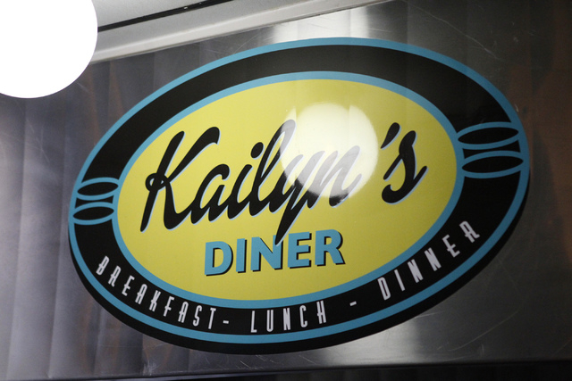 A sign inside Kailyn's Diner, 3430 E. Tropicana Ave., in Las Vegas is seen on Sunday, Nov. 9, 2014. (Erik Verduzco/Las Vegas Review-Journal)