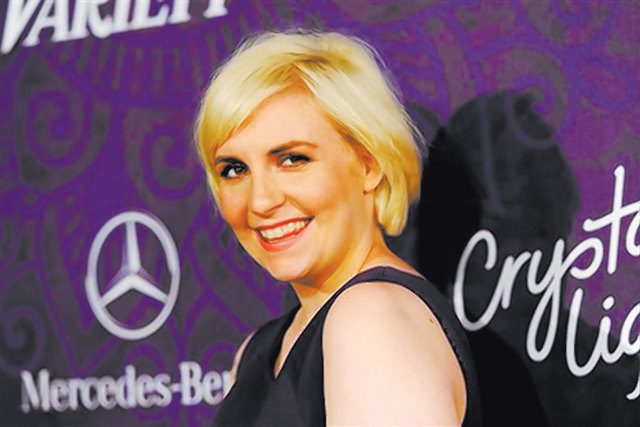 "Actress Lena Dunham arrives at Variety and Women in Film's pre-Emmy celebration in West Hollywood, California, Aug. 23, 2014. Dunham has written a book, ""Not That Kind of Girl: A Young Woman Tells ..."