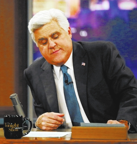 "Jay Leno appears during the final taping of  NBC's ""The Tonight Show with Jay Leno,"" in Burbank, Calif., Thursday, Feb. 6, 2014. Leno brings his 22-year career as the show host to an e ..."