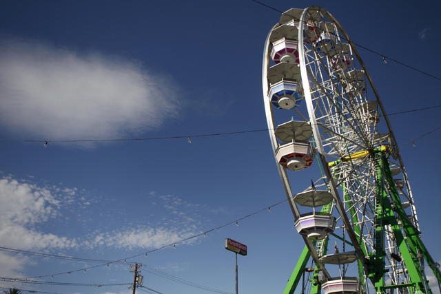 The ferris wheel at the Life Is Beautiful music and art festival in downtown Las Vegas is seen on Saturday, Oct. 25, 2014. (Erik Verduzco/Las Vegas Review-Journal)