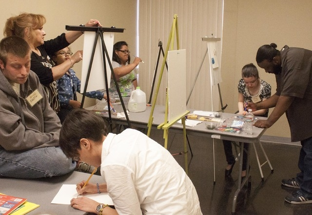 Students are Life Long Dreams work on art projects. The nonprofit gives children with special needs the opportunity to participate in performance and visual art. (Special to the Las Vegas Review-J ...