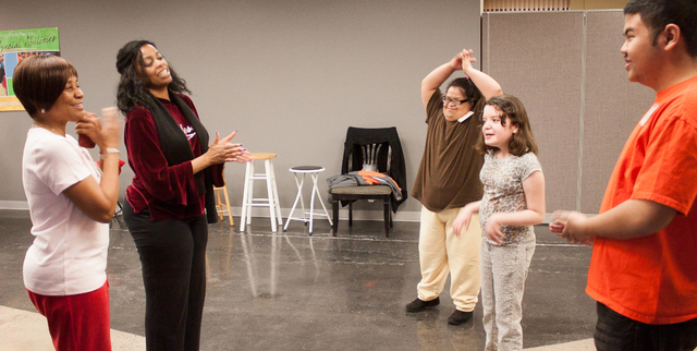 Students at Life Long Dreams, a nonprofit that provides children with special needs access to performance arts, go through vocal lessons during a music class. (Special to the Las Vegas Review-Journal)